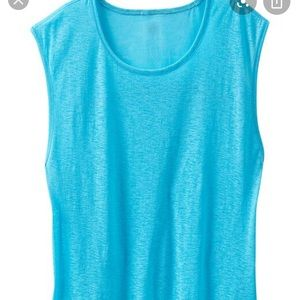 NWT Athleta muscle crunch turquoise top L